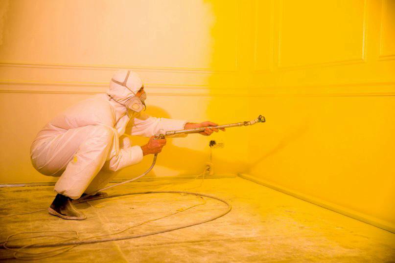 Безвоздушная покраска стен и потолков в Барановичах